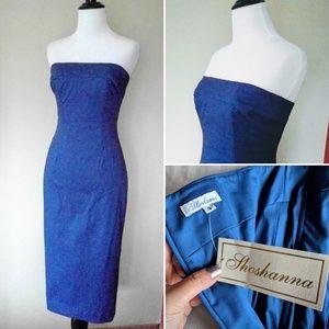 NWT Shoshanna strapless cocktail wiggle dress XXS